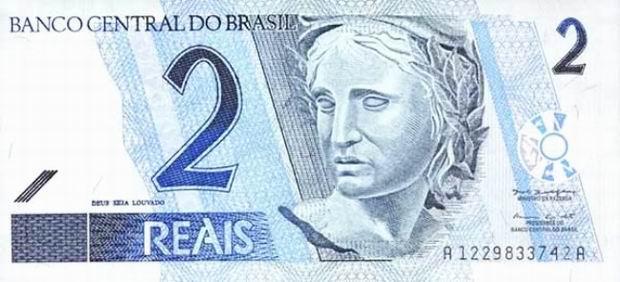 Brazil Real paper money Reais banknotes